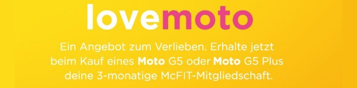 Lenovo Moto G5 oder G5 Plus mit McFit Gutschein
