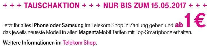 Telekom Tausch-Aktion im Shop vor Ort